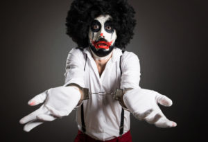 person dressed as clown arrested on Halloween